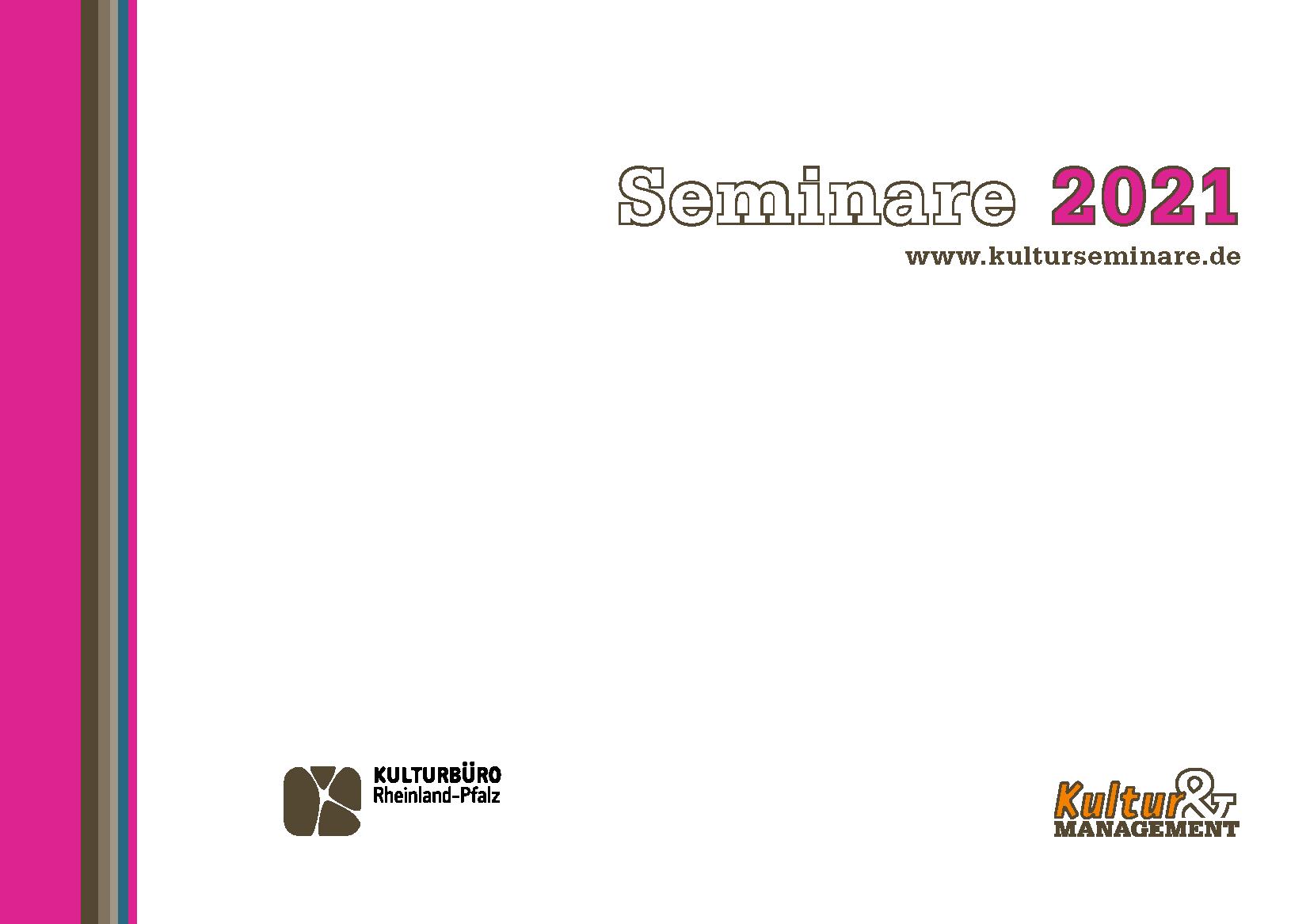 Titelseite des Programmheftes für Kultur&Management